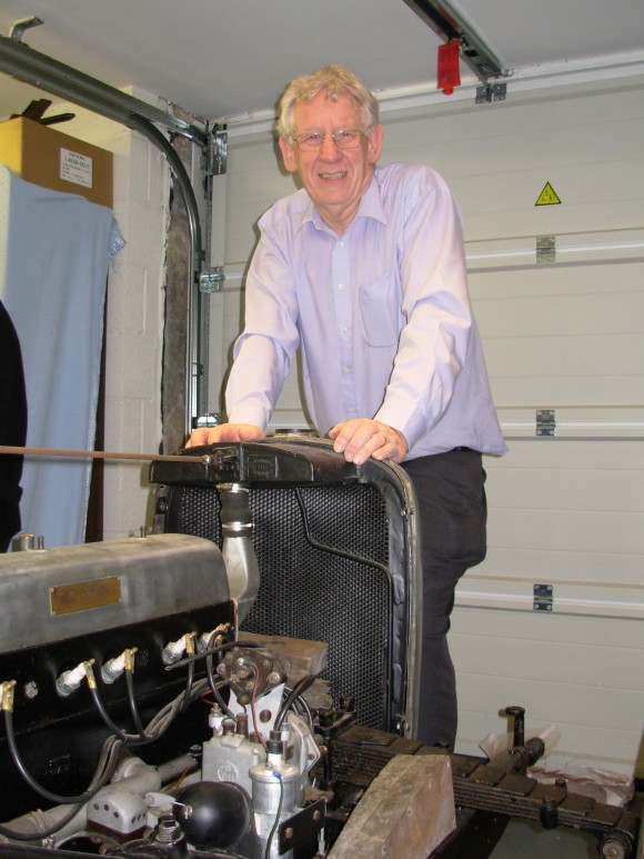Peter Horrobin and his Alvis Speed 20